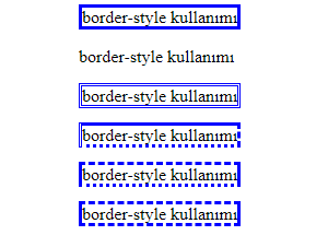 css border-style ornegi