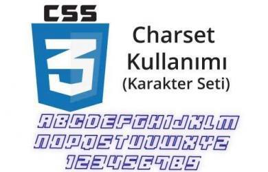 css charset ( karakter seti ) nedir css charset kullanımı