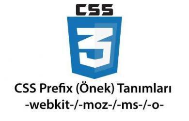 css prefix (önek) tanımları