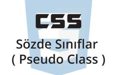 css sözde sınıflar (pseudo class))