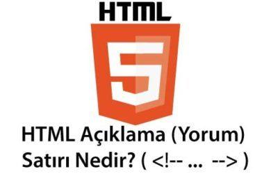 html açıklama ( yorum ) satırı