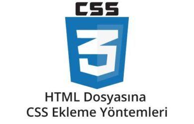 html-dosyasına-css-ekleme-yontemleri