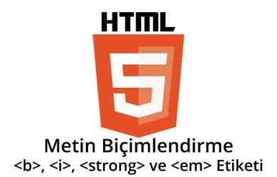 html-metin-biçimlendirme
