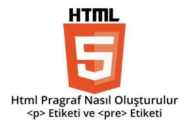 html-pragraf-nasıl-olusturulur