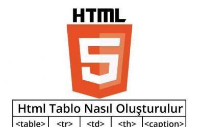 html-tablo-olusturma